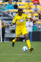 24 OCTOBER 2010:  Columbus Crew midfielder Emmanuel Ekpo (17) during MLS soccer game against the Philadelphia Union at Crew Stadium in Columbus, Ohio on August 28, 2010.