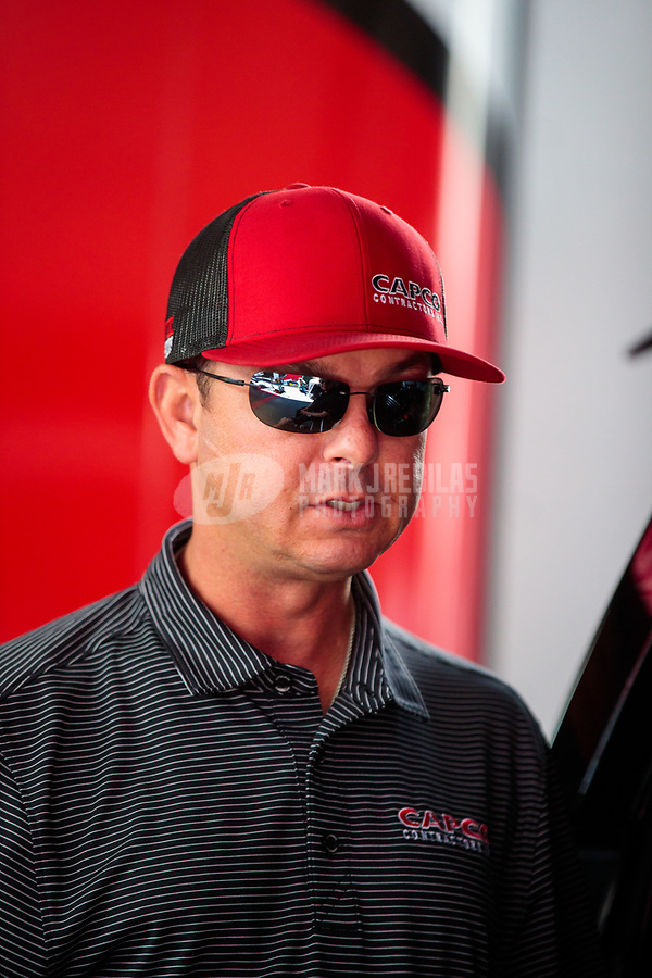 Jul 27, 2019; Sonoma, CA, USA; NHRA top fuel driver Steve Torrence during qualifying for the Sonoma Nationals at Sonoma Raceway. Mandatory Credit: Mark J. Rebilas-USA TODAY Sports