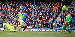 05.05.2019 Rangers v Hibs: Jermain Defoe opens the scoring for Rangers