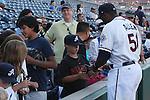 Aces Brandon Allen signs autographs for fans.  Photo by Tom Smedes.