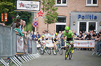 Wouter Wippert (NLD/Cannondale) is the first one up the cobbles in the 1 but last lap<br /> <br /> Heistse Pijl 2016