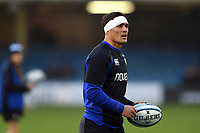 Jackson Willison of Bath Rugby looks on during the pre-match warm-up. Gallagher Premiership match, between Bath Rugby and Sale Sharks on December 2, 2018 at the Recreation Ground in Bath, England. Photo by: Patrick Khachfe / Onside Images