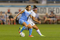 Chicago, IL - Wednesday Sept. 07, 2016: Stephanie McCaffrey, Desiree Scott during a regular season National Women's Soccer League (NWSL) match between the Chicago Red Stars and FC Kansas City at Toyota Park.