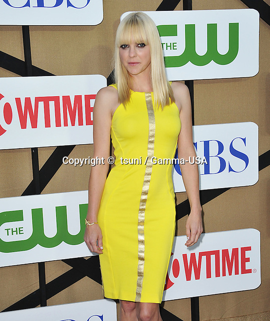 Anna Faris  arriving at the CBS tca 2013 at the Beverly Hilton In Los Angeles.