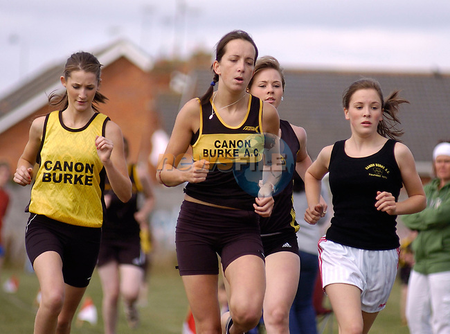 August 13, 2006 - Boyne AC Sports Day held at Drogheda, County Louth. Participants in the Junior ladies 1500 metres race at the above..Photo: BARRY CRONIN/Newsfile..(Photo credit should read BARRY CRONIN/NEWSFILE).