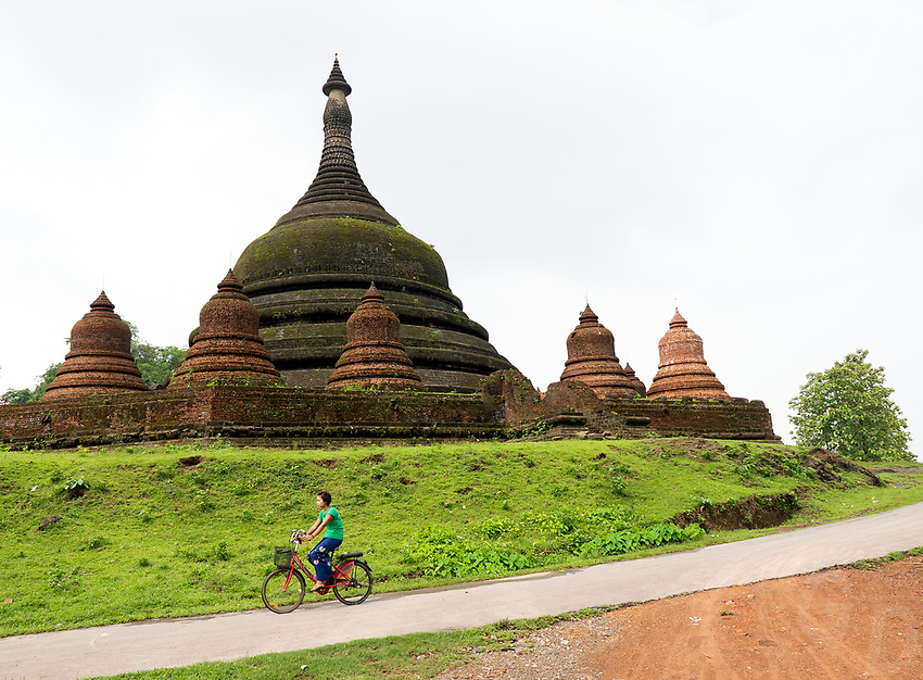 The ruins and Temples of Mrauk U, Rakhine State Myanmar
