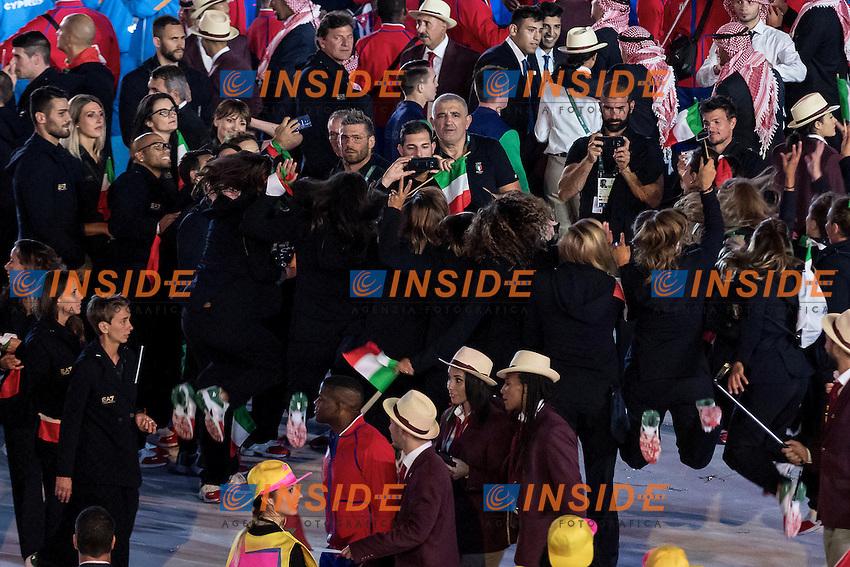 Italy Team<br /> Rio de Janeiro 06-08-2016 XXXI Olympic Games <br /> Maracana' Stadium <br /> Opening Ceremony 05/08/2016<br /> Photo Giorgio Scala/Deepbluemedia/Insidefoto