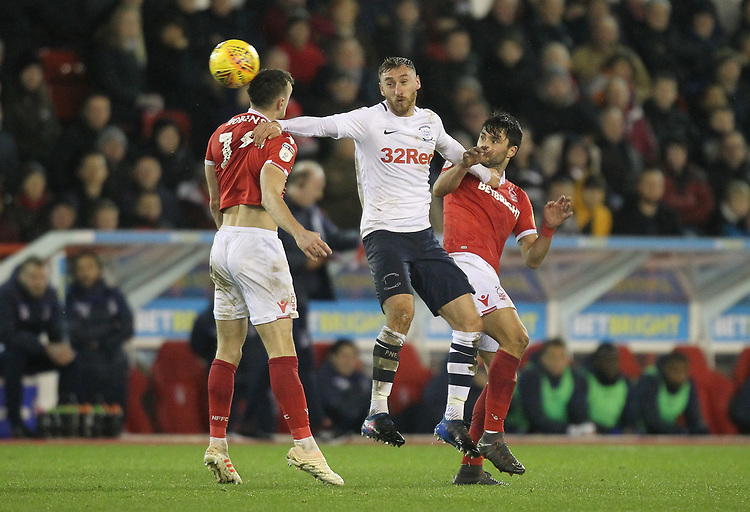 Preston North End's Louis Moult<br /> <br /> Photographer Mick Walker/CameraSport<br /> <br /> The EFL Sky Bet Championship - Nottingham Forest v Preston North End - Saturday 8th December 2018 - The City Ground - Nottingham<br /> <br /> World Copyright © 2018 CameraSport. All rights reserved. 43 Linden Ave. Countesthorpe. Leicester. England. LE8 5PG - Tel: +44 (0) 116 277 4147 - admin@camerasport.com - www.camerasport.com