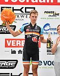 2018-07-09 / Wielrennen / Seizoen 2018 / Slotrit Sint Martinus prijs Kontich / Het podium van de slotrit. Stef Scharre werd derde<br /> <br /> ,Foto: Mpics