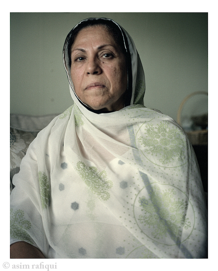 Portrait of Mrs. Bilquis Ahmed, mother of Farooquee Ahmed, a Pakistani-born Virginia man accused of plotting to bomb Washington-area subway stations in 2010.