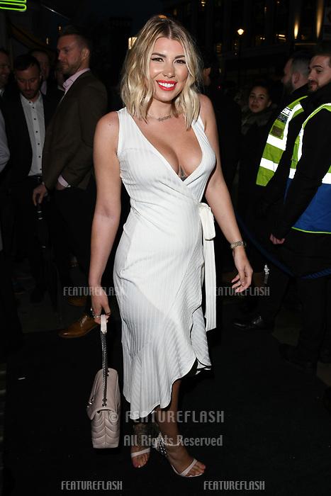 Olivia Buckland arriving for James Ingham's Jog on to Cancer 2018 at Cafe de Paris, London, UK. <br /> 04 April  2018<br /> Picture: Steve Vas/Featureflash/SilverHub 0208 004 5359 sales@silverhubmedia.com