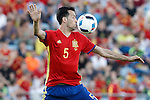 Spain's Sergio Busquets during international friendly match. June 7,2016.(ALTERPHOTOS/Acero)