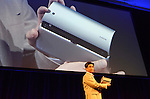 April 26th, 2011, Tokyo, Japan - Kunimasa Suzuki, deputy president of Networked Products & Services Group of Sony shows Sony's first tablet computer S2 at their unveiling ceremony in Tokyo on Tuesday, April 26, 2011. Sony launched its first tablet computers S1 and S2 which use an operating system based on Google's Android 3.0. (Photo by Koichi Mitsui/AFLO) -tm-.