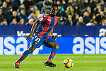 Emmanuel Okyere Boateng of Levante UD in action during the La Liga 2017-18 match between Levante UD and Real Madrid at Estadio Ciutat de Valencia on 03 February 2018 in Valencia, Spain. Photo by Maria Jose Segovia Carmona / Power Sport Images