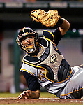 5 June 2007: Pittsburgh Pirates catcher Ronny Paulino in action against the Washington Nationals at RFK Stadium in Washington, DC. The Pirates defeated the Nationals 7-6, in the first game of their 3-game series...Mandatory Credit: Ed Wolfstein Photo