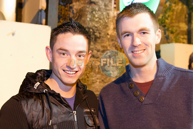 Tony Brett and Michael Costello enjoying a night in McPhails.<br /> Picture: Shane Maguire / www.newsfile.ie