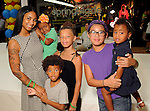 Din Chaney with Stella,2, Ronin,5, Dylan,10, Michol,10 and Aster,2, at the MD Anderson Back to School Fashion Show at The Galleria Saturday August 17, 2013.(Dave Rossman photo)