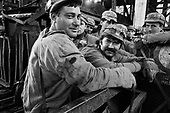 Vulcan, Transylvania<br /> Romania<br /> May 6, 1992<br /> <br /> Coal miners