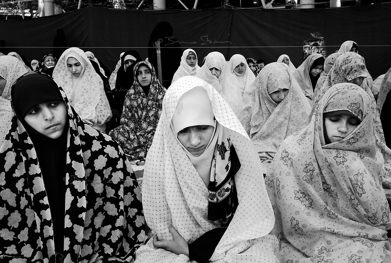 Teheran, Iran, April 20, 2007.The women section of the Friday prayer at Teheran University directed today by Hashemi Rafsanjani, former Iranian president and number two of the regime.