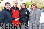 Awaiting the arrival of President Michael D Higgins to Killarney on Saturday were Peggy O'Riordan, Margaret Joy, Noreen Cooper and Joan Collins.