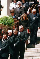 1994 <br /> Jackie O Funeral, <br /> JFK Jr. Caroline Kennedy<br /> Hillary Clinton behind Family<br /> Photo By John Barrett-PHOTOlink.net/MediaPunch