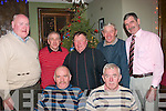 6593-6596.---------.Christmas Light's.-----------------.Retired friend's from ESB Tralee/Castleisland area got together in Gally's bar/restaurant,Castlemaine Rd Tralee last Friday night for their annual Christmas get together(seated)L-R Jerry Lyons and Dave Prenderville(back)L-R Tom McKenna,Brendan Watson,Jerh Kerins,Jim Collins and Denis Reidy..
