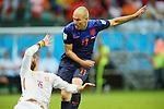 Arjen Robben (NED), <br /> JUNE 13, 2014 - Football /Soccer : <br /> 2014 FIFA World Cup Brazil <br /> Group Match -Group B- <br /> between Spain 1-5 Netherlands <br /> at Arena Fonte Nova, Salvador, Brazil. <br /> (Photo by YUTAKA/AFLO SPORT) [1040]