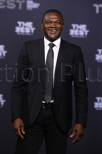 09.01.2017. Zurich, Switzerland.  French former footballer Marcel Desailly arrives at the FIFA World Players of the Year 2016 gala in Zurich, Switzerland, 9 January 2017.
