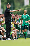 07.07.2019, Parkstadion, Zell am Ziller, AUT, TL Werder Bremen Zell am Ziller / Zillertal Tag 03 - FSP Blitzturnier<br /> <br /> im Bild<br /> Florian Kohfeldt (Trainer SV Werder Bremen) in Coachingzone / an Seitenlinie, <br /> <br /> im dritten Spiel des Blitzturniers SV Werder Bremen vs Karlsruher SC, <br /> <br /> Foto © nordphoto / Ewert