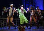 """Timothy Hughes, Amber Gray and Afra Hines during the Broadway Press Performance Preview of """"Hadestown""""  at the Walter Kerr Theatre on March 18, 2019 in New York City."""