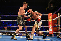 Reece Bellotti (silver shorts) defeats Ben Jones during a Boxing Show at The O2 on 3rd February 2018