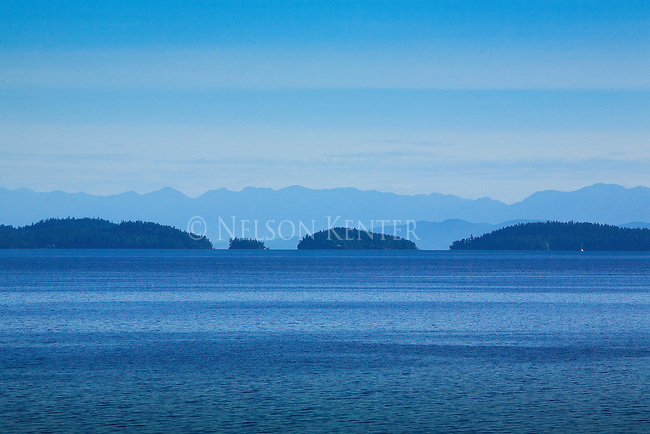 Blue colors of Flathead Lake in western Montana