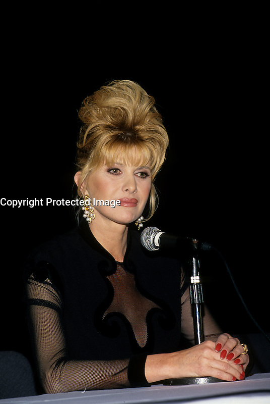 Ivana Trump in Montreal, Canada, November 1993 (Exact date unknown)