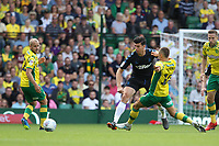 Moritz Leitner of Norwich City challenges Daniel Ayala of Middlesbrough for the ball during Norwich City vs Middlesbrough, Sky Bet EFL Championship Football at Carrow Road on 15th September 2018