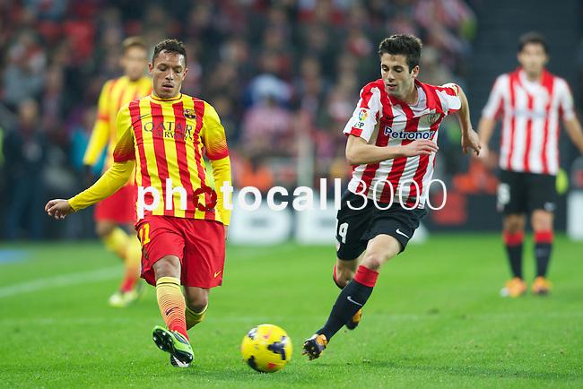 BILBAO.ESPAÑA.FÚTBOL.<br /> Partido de La Liga BBVA entre el Ath.Club y el Barça , a 01/12/2013.<br /> En la imagen :<br /> 14Markel Susaeta (Athletic Bilbao)