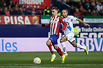 Atletico de Madrid´s Antoine Griezmann and Deportivo de la Coruna´s Manuela Pablo during 2015-16 La Liga match between Atletico de Madrid and Deportivo de la Coruna at Vicente Calderon stadium in Madrid, Spain. March 12, 2016. (ALTERPHOTOS/Victor Blanco)