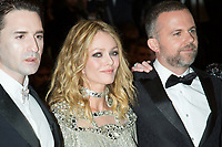 CANNES, FRANCE - MAY 17: Yann Gonazalez, Vanessa Paradis & Nicolas Maury attends the screening of 'Knife + Heart (Un Couteau Dans Le Couer)' during the 71st annual Cannes Film Festival at Palais des Festivals on May 17, 2018 in Cannes, France. <br /> <br /> Picture: Kristina Afanasyeva/Featureflash/SilverHub 0208 004 5359 sales@silverhubmedia.com