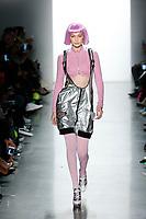 Jeremy Scott<br /> New York Fashion Week <br /> Gigi Hadid<br /> FW18<br /> <br /> New York Fashion Week,  New York, USA in February 2018.<br /> CAP/GOL<br /> &copy;GOL/Capital Pictures