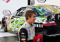 Oct 2, 2008; Talladega, AL, USA; ARCA RE/MAX Series driver James Buescher after winning the pole position qualifying for the Remax 250 at Talladega Superspeedway. Mandatory Credit: Mark J. Rebilas-