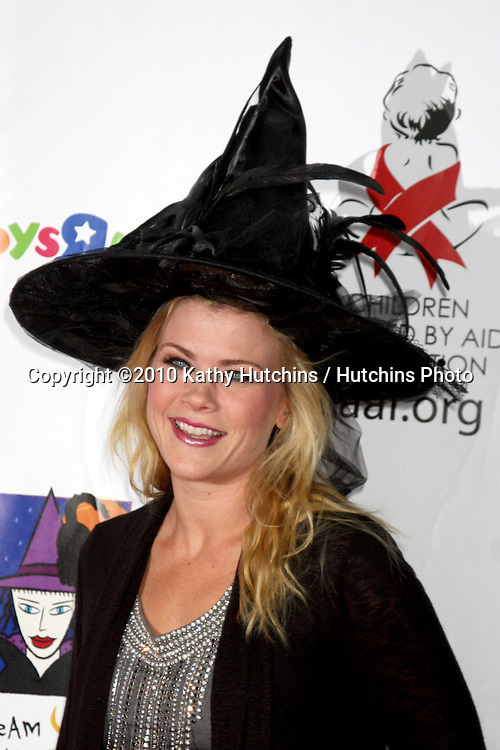 LOS ANGELES - OCT 30:  Alison Sweeney arrives at the 17th Annual Dream Halloween benefiting CAAF at Barker Hanger on October 30, 2010 in Santa Monica, CA