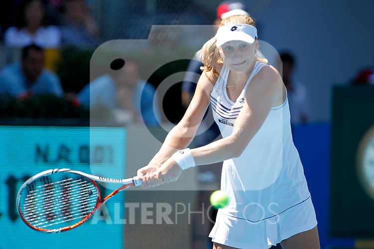 Ekaterina Makarova during Madrid Open Tennis 2012 Match.May, 10, 2012(ALTERPHOTOS/ALFAQUI/Acero)
