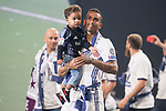 Real Madrid Danilo Luiz Da Silva with son during the celebration of the 13th UEFA Championship at Santiago Bernabeu Stadium in Madrid, June 04, 2017. Spain.<br /> (ALTERPHOTOS/BorjaB.Hojas)