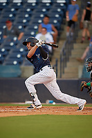 Tampa Tarpons Angel Aguilar (6) at bat during a Florida State League game against the Daytona Tortugas on May 17, 2019 at George M. Steinbrenner Field in Tampa, Florida.  Daytona defeated Tampa 8-6.  (Mike Janes/Four Seam Images)