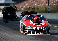 Oct 5, 2013; Mohnton, PA, USA; NHRA pro stock driver V. Gaines during qualifying for the Auto Plus Nationals at Maple Grove Raceway. Mandatory Credit: Mark J. Rebilas-