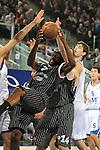 MADRID, Spain (19/01/11). Euroliga de baloncesto. Partido 1 del top 16, grupo G. Euroleague Basketball, Game 1 Top 16, Group G. Real Madrid vs Partizan MT:S..James Gist...©Raul Perez .