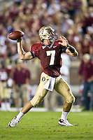 October 10, 2009:    Florida State quarterback Christian Ponder (7) during Atlantic Coast Conference action between the Georgia Tech Yellow Jackets and Florida State Seminoles at Doak Campbell Stadium in Tallahassee, Florida.