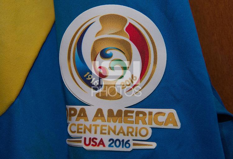 Photo before the match Mexico vs Jamaica Corresponding to  Group -C- of the America Cup Centenary 2016 at Rose Bowl Stadium.<br /> <br /> Foto previo al partido Mexico vs Jamaica, Correspondiente al Grupo -C- de la Copa America Centenario 2016 en el Estadio Rose Bowl, en la foto: Detalle de Logo de la Copa America<br /> <br /> <br /> 09/06/2016/MEXSPORT/David Leah