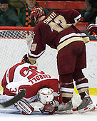 Ryan Carroll (Harvard - 35), Ben Smith (BC - 12) - The Boston College Eagles defeated the Harvard University Crimson 3-2 on Wednesday, December 9, 2009, at Bright Hockey Center in Cambridge, Massachusetts.