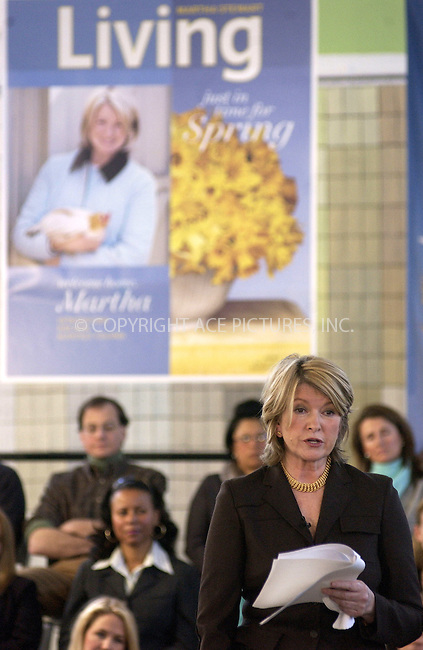 WWW.ACEPIXS.COM . . . . . ....NEW YORK, MARCH 7, 2005....Martha Stewart starts off her first day back to work, after her release from prison, meeting with employees of Martha Stewart Living Omnimedia... ..Please byline: KRISTIN CALLAHAN - ACE PICTURES.. . . . . . ..Ace Pictures, Inc:  ..Philip Vaughan (646) 769-0430..e-mail: info@acepixs.com..web: http://www.acepixs.com