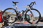Burgos-BH bikes on the team car before Stage 1 of the La Vuelta 2018, an individual time trial of 8km running around Malaga city centre, Spain. 25th August 2018.<br /> Picture: Eoin Clarke | Cyclefile<br /> <br /> <br /> All photos usage must carry mandatory copyright credit (© Cyclefile | Eoin Clarke)